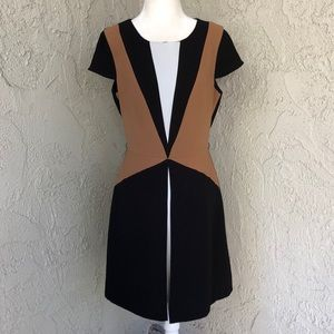 Zara Retro Mod Colorblock Short Sleeve Dress M